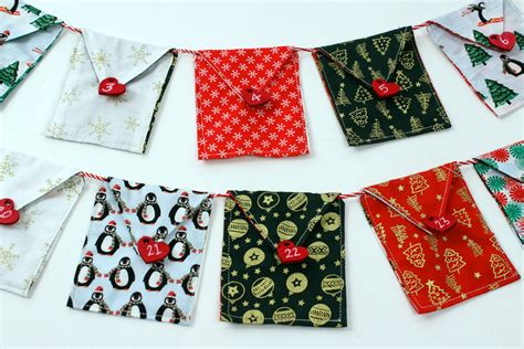 fabric advent bunting hobbycraft blog