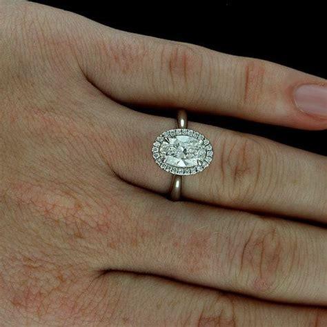 oval halo diamond engagement ring cut  micro pave set