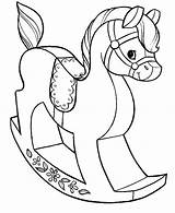 Coloring Toys Pages Horse Wooden Grab Button Using Paper Directly Feel Well sketch template