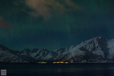 norway march northern lights boarding m s nordlys under the northern lights