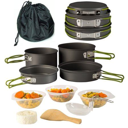 cing cookware pot pan set mess kit backpacking
