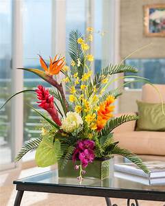 Buy Tropical Orchids & Ginger Artificial Flower