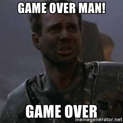 Game Over Meme - combat ai beats the air force s top tactical experts tigerdroppings com