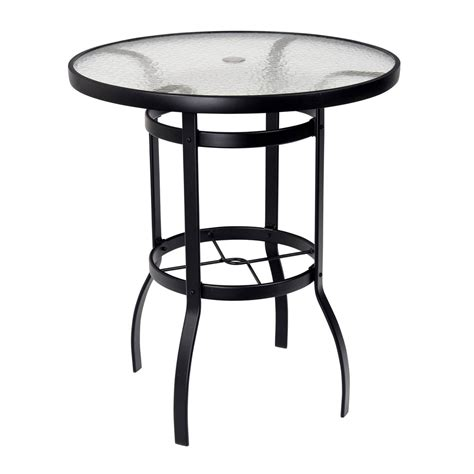36 round glass table top woodard deluxe 36 quot round glass top bar table 826536w