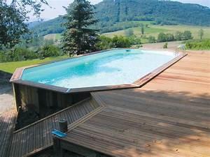 terrasse bois drome ma39ppart pinterest terrasse bois With comment installer une piscine hors sol 4 piscine bois semi enterree conseil astuces montage