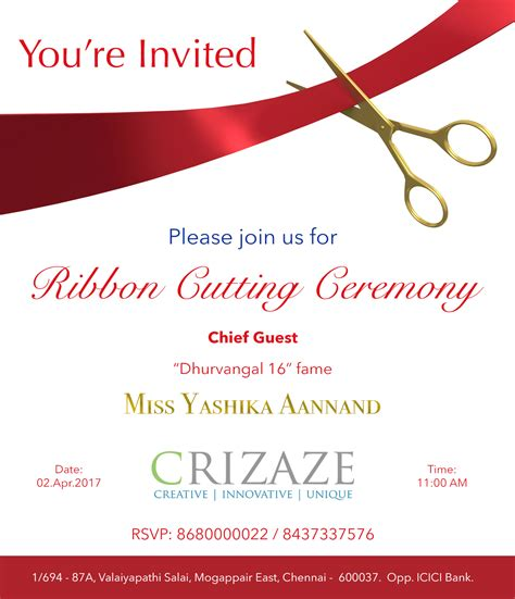 ribbon cutting ceremony crizaze