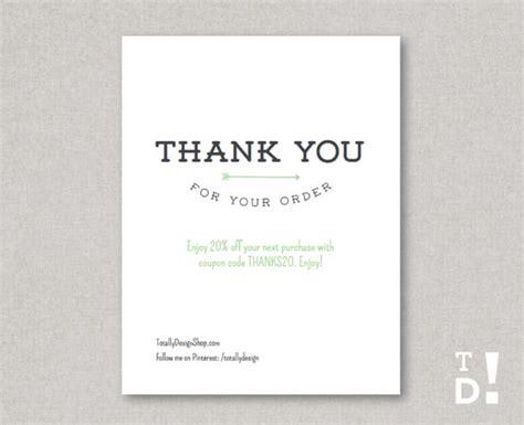 order card printable instant