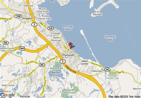 Map Of Radisson Hotel Plymouth Harbor, Plymouth
