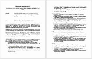 Outsourcing services contract template microsoft word for Outsourcing contract template