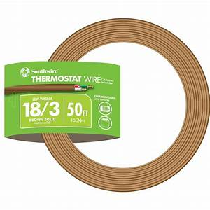Southwire 50 Ft  18  3 Brown Solid Cu Cl2 Thermostat Wire-64168842