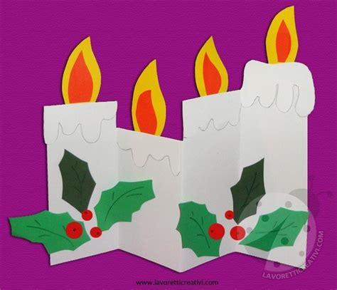 lavoretti di natale con candele corona di santa lucia fai da te