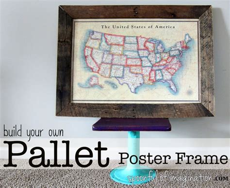 Diy Pallet Frame {poster Size}  Spoonful Of Imagination. Designing A Living Room With A Fireplace And Tv. Living Room Farrow And Ball. Indian Living Room Ideas. Table Dining Room. Blue And Gold Living Room. How To Decorate Narrow Living Room. Room For Rent Qatar Living. Shelf Living Room
