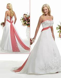 11 best images about a splash of color on pinterest With wedding dresses with coral color