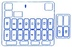 mitsubishi endeavor  dashboard fuse boxblock circuit breaker diagram carfusebox