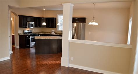 partial wall ideas northwest indiana new home living spaces steiner homes ltd