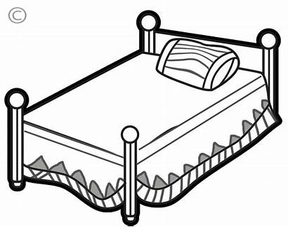 Bed Clipart Cliparts Bedroom Clip Outline Bedding