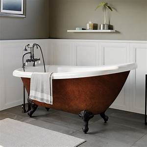 Acrylic Slipper Clawfoot Bathtub Faux Copper Bronze Finish