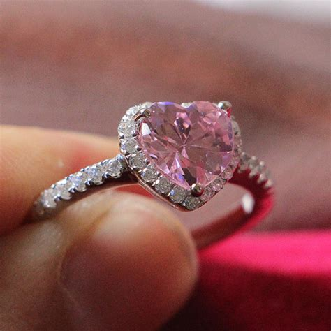 2ct 14k Gorgeous Heart Shape Ring Pink Jewelry 7*7mm. Super Engagement Rings. 24kt Gold Wedding Rings. Infinity Symbol Engagement Rings. Arrow Rings. Tumblr Aesthetic Wedding Rings. Vintage Style Rings. Goldengagement Engagement Rings. Commitment Engagement Rings