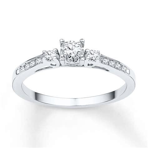 Ee  Three Ee    Ee  Stone Ee   Promise Ring   Ct Tw Diamonds K White Gold