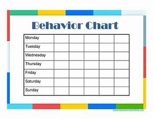 famous behaviour chart template festooning example With monthly behavior calendar template