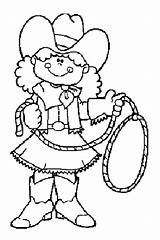 Cowboy Coloring Cowgirl Coloringpages1001 Cowboys Colouring sketch template
