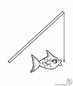 Coloring Page Of Fishing Pole Coloring Page