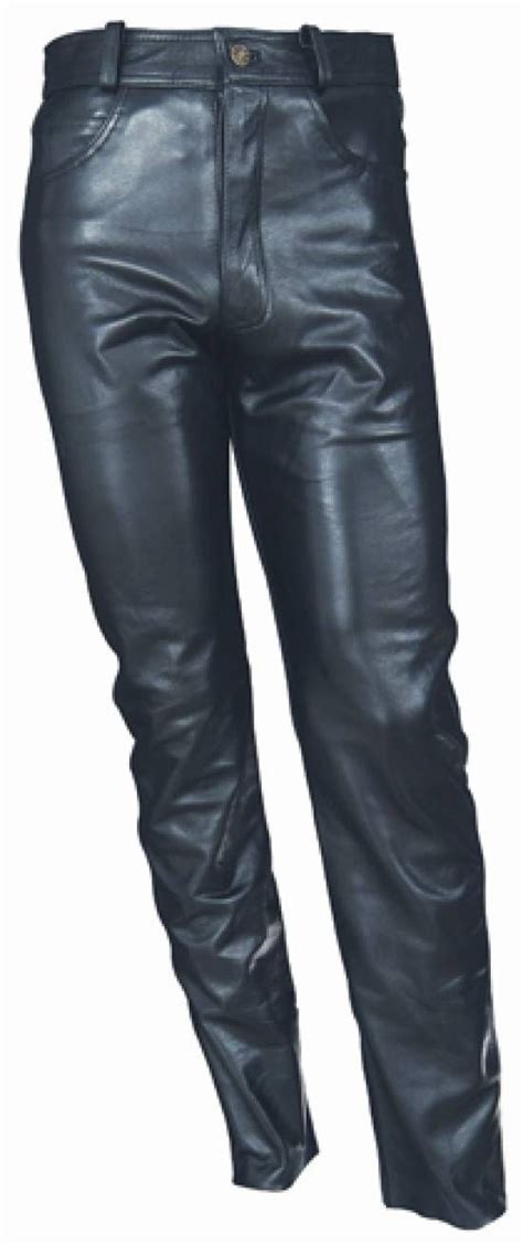pantalon cuero de hombre