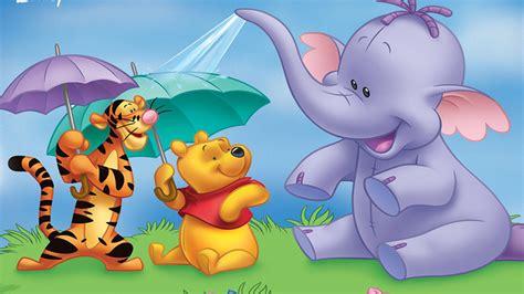 Heffalump Winnie The Pooh And Tigger Cartoon Umbrellas