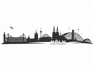 Wandtattoo Skyline Köln Wandtattoos de