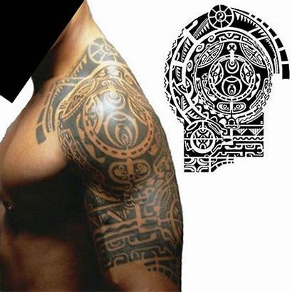 Tattoo Shoulder Tattoos Left Maori Tribal Temporary