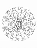 Coloring Mandala Pages Etsy Pattern Sundial sketch template