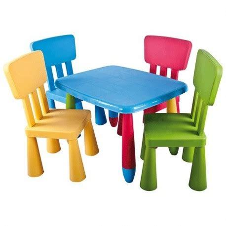 mesa infantil rectangular de colores  por mesas