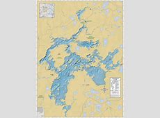 TurtleFlambeau Flowage Wall Map