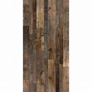 Revetement Bois Mural : rev tement mural imitation bois de grange 48 po x 96 po brun mat riaux bruts pinterest ~ Melissatoandfro.com Idées de Décoration