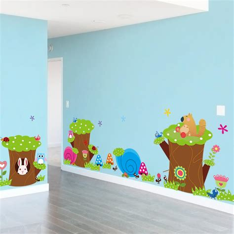 Animal Wallpaper For Children S Bedroom - children s bedroom wall decals owl animal