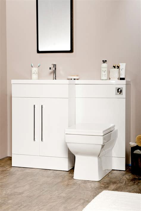 L Shaped Bathroom Vanity Unit by L Shaped Gloss White Vanity Unit And Wc Combination Lh