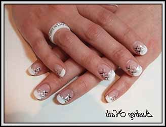 deco ongle blanche ongles en gel blanche deco