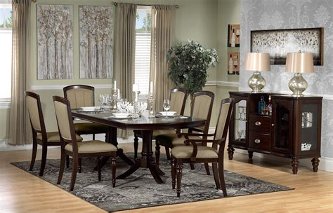 Thoreaux 7piece Dining Room Set  Dark Cherry  Leon's