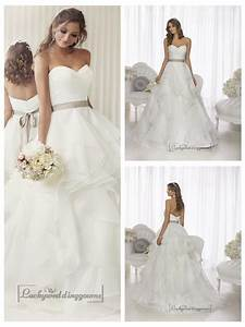 elegant sweetheart a line ruched wedding dresses with With layered skirt wedding dress
