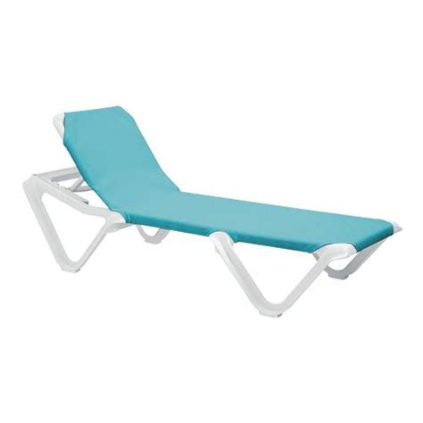 grosfillex chaise lounge chairs grosfillex us101241 nautical turquoise white chaise lounge