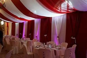 Décoration Salle Mariage : decoration plafond salles tentures salles mariage ~ Melissatoandfro.com Idées de Décoration