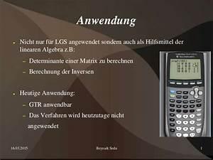 Determinante 4x4 Matrix Berechnen : herzlich willkommen zu unserer pa pr sentation im fach ~ Themetempest.com Abrechnung