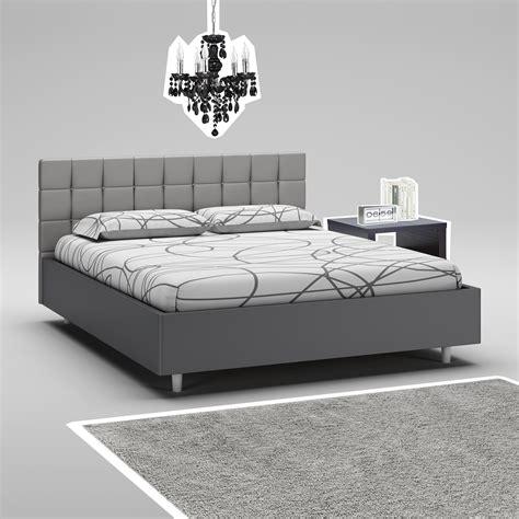 amenager chambre adulte lit 160x200 tête de lit cadre graphite compact