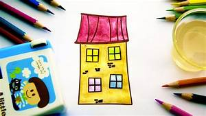 Simple Example For Kids Colouring And Drawing House
