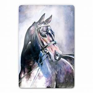 Tableau En Verre : tableau en verre un cheval wall ~ Melissatoandfro.com Idées de Décoration