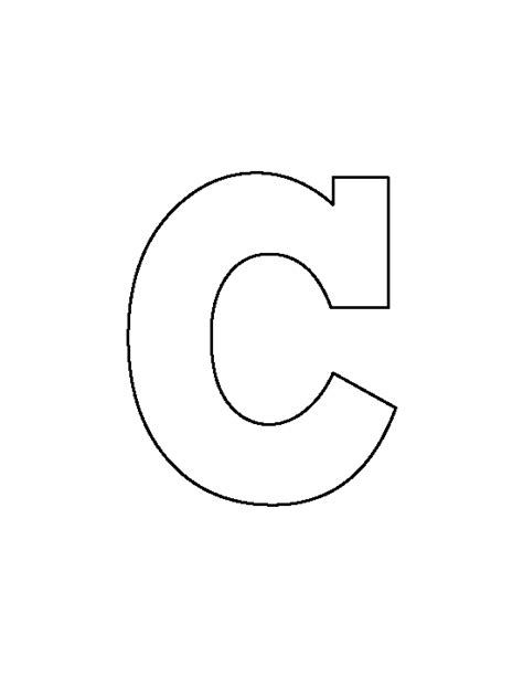 c template lowercase letter c pattern use the printable outline for crafts creating stencils