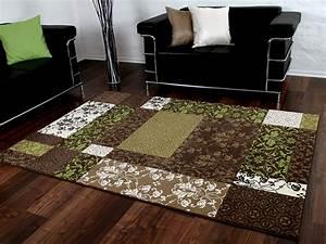 Teppich Braun Grün : designer teppich passion braun gr n patchwork teppiche designerteppiche passion teppiche ~ Whattoseeinmadrid.com Haus und Dekorationen
