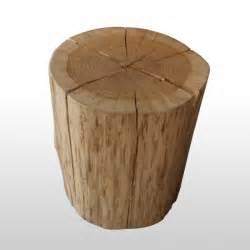 design hocker baumstamm hocker eiche natur woodlux