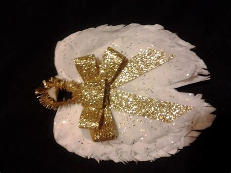 coffee filter angel wings ornament