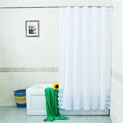 Creative Bath Shower Curtains by White Lace And Ruffles Design Shower Curtain Bathroom